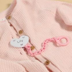 Hjerte suttekæde med navn Findes i flere farver