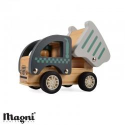 MAGNI, Anläggningsbil, Trä - Gråblå/grå