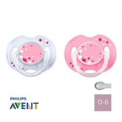PHILIPS AVENT 0-6,NIGHT TIME,Symmetric - Silicone
