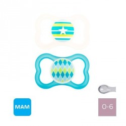 MAM AIR 0-6 M,Symmetric - Silicone