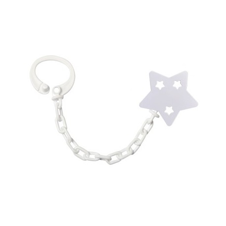 Personalised dummy chain, Star, Several colours available