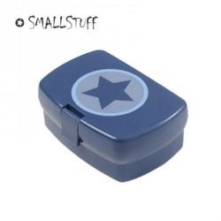 SMALLSTUFF, Lunchlåda, Blå - Cirkel och stjärna