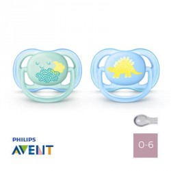 Philips Avent, Napp 0-6 mån, Ultra Air Blue, Symmetrisk - Silikon