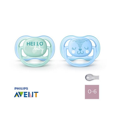 Philips Avent 0-6,Ultra Air Hallo Baby, Symmetrical - Silicone