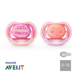Philips Avent, Napp 6-18 mån, Ultra Air Little Princess, Symmetrisk - Silikon