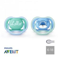 Philips Avent, Napp 6-18 mån, Ultra Air Hello, Symmetrisk - Silikon