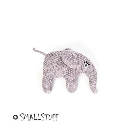 SMALLSTUFF, Strikket elefant, Rangle, Blå Rosa