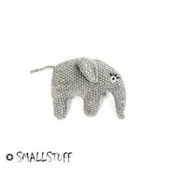 SMALLSTUFF,Strikket elefant, Rangle, Grå