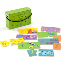 SMALLSTUFF - Pussel med nummer, Grön lådan