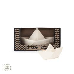 Origami båt, vit, Oli & Carol