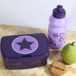 SmallStuff lunch box, lavender, cirkel star
