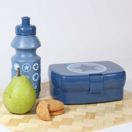 SmallStuff lunch box, denim, cirkel star