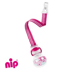 NIP - Soother clip, Pink