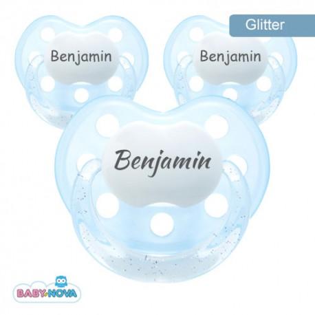 BABY-NOVA 3-36,Glitter dummy, Anatomic - Silicone