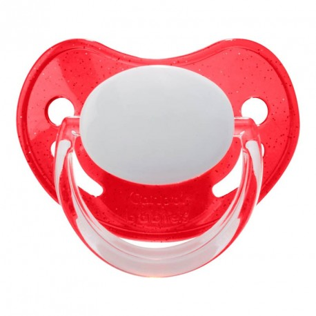 CANPOL 3-36 - Anatomic, Silicone- With glitters on the shield