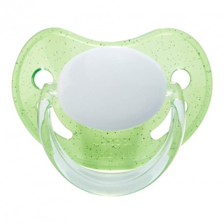 CANPOL 0-6- Anatomic , Silicone- With glitters on the shield