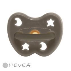 HEVEA, Anatomisk - Naturgummi, Stjärna & måne - Shiitake Grey / 0-3 mån.