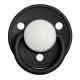 Bibs De Lux, Storlek. 2. (3-36 mån.), Rund - Silikon