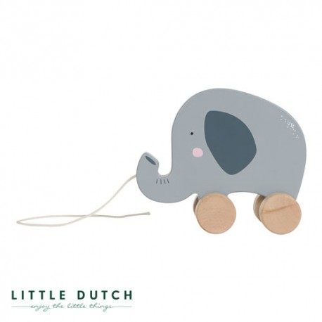 LITTLE DUTCH, Dragdjur, Mild blå - Elefant