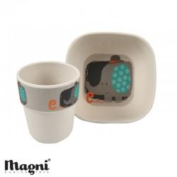 MAGNI, Matset - 2 delar, Elefant - Bambu