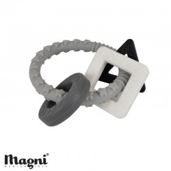 MAGNI, Teething ring, Silicone - Grey and black