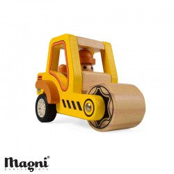 MAGNI, Road roller, Wood - Yellow