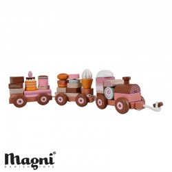 MAGNI, Train with stacked cakes, Rose tones
