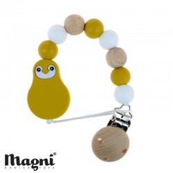 MAGNI, Dummy clip, Yellow/white/wood