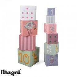 MAGNI, Stacking tower, Animals and numbers