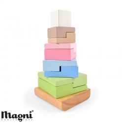 MAGNI, Stacking tower, Square bricks