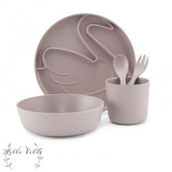 BY LILLE VILDE, Tableware set, Swan - Taupe