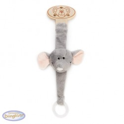 DIINGLISAR - Stuffed animal with dummy ring, Lion
