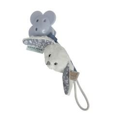 LITTLE DUTCH, Dummy clip, Dusty blue - Rabbit