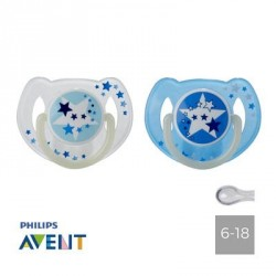PHILIPS AVENT 6-18, NIGHT, Symmetric - Silicone