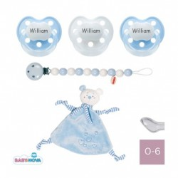 Gift box with pacifier cloth