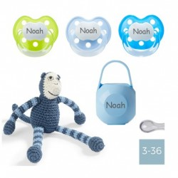 Gift box - Crochet monkey - Boy