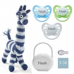 Gift box - Crochet giraffe - Boy