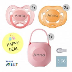 6 PHILIPS AVENT dummies, 3-36 m, symmetric - silicone with dummy box