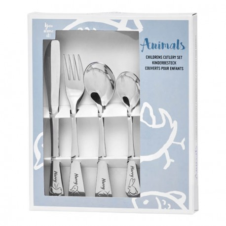 Personalized cutlery for boy, Animals