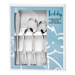 Personalized cutlery for boy, Teddy bear