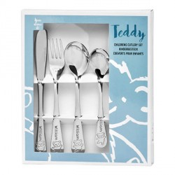 Personalized cutlery for boy, Teddy bear