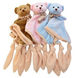 Baby comforter, Teddy bear, Several colours available