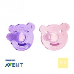 PHILIPS AVENT 0-3, Soothie Shapes Girl, Round