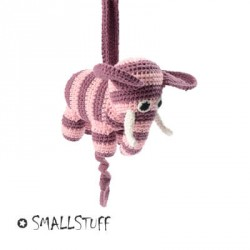 SMALLSTUFF - Lullaby music box , Crochet Elephant