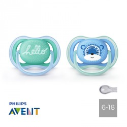 Philips Avent, Pacifiers 6-18 months,Ultra Air Hallo, Symmetrical - Silicone