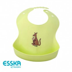 ESSKA - Bib, Mummy kangaroo with baby, Green