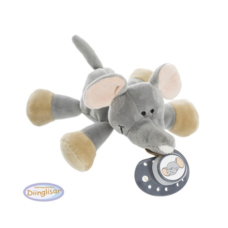 DIINGLISAR - Stuffed animal with dummy ring, Elephant