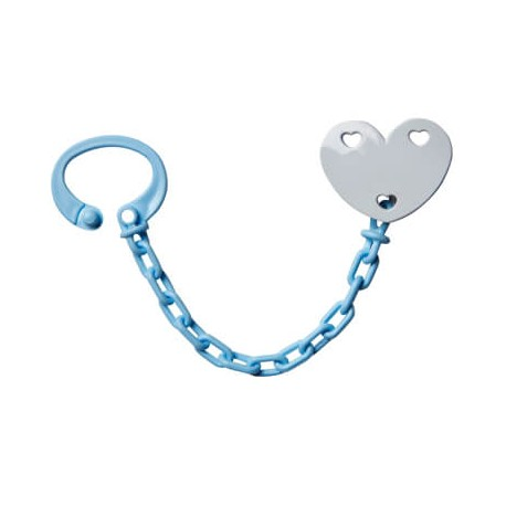 Personalised dummy clip, Heart, Several colours available