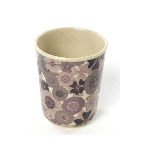 Cup no handle, Flower, bamboo