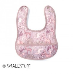 SMALLSTUFF - Eating Bib, Small with pocket, Animal